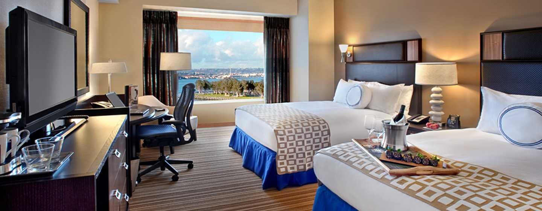 Hilton San Diego Bayfront, Kalifornien, USA– Eckzimmer mit Queen-Size-Bett