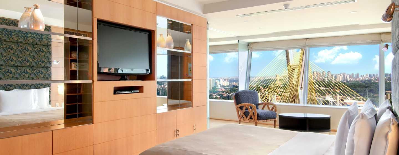 Hilton Sao Paulo Morumbi Hotel, Brasilien – Schlafzimmer der Suite