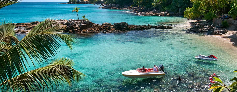 Hilton Seychelles Northolme Resort and Spa – Strandansicht