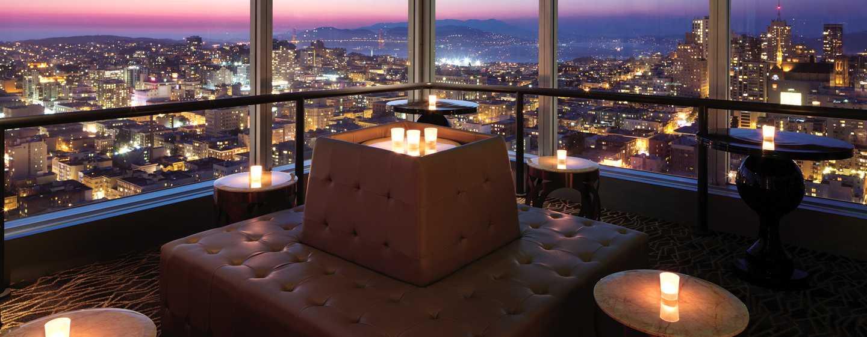 Hilton San Francisco Union Square Hotel, Kalifornien, USA– Meetingraum Cityscape