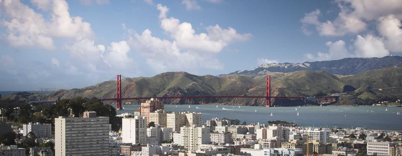 Hilton San Francisco Union Square Hotel, Kalifornien, USA– Atemberaubender Blick auf die Bucht