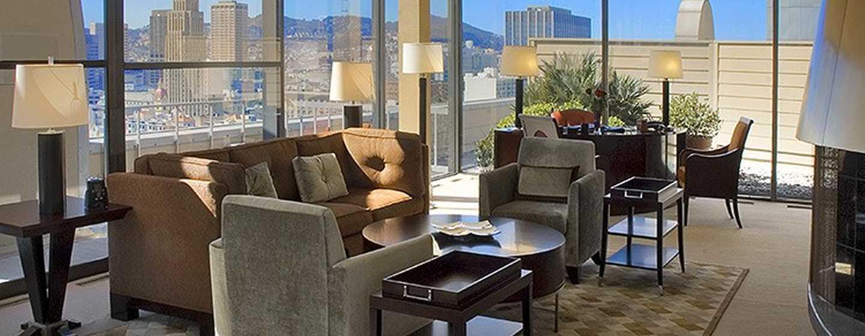 Hilton San Francisco Union Square Hotel, Kalifornien, USA– Wintergarten der Imperial Suite