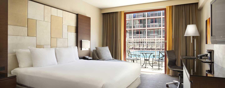 Hilton San Francisco Union Square Hotel, Kalifornien, USA– Poolblick und Terrasse