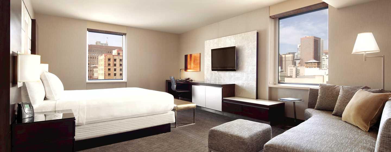 Hilton San Francisco Union Square Hotel, Kalifornien, USA– Junior Suite mit King-Size-Bett