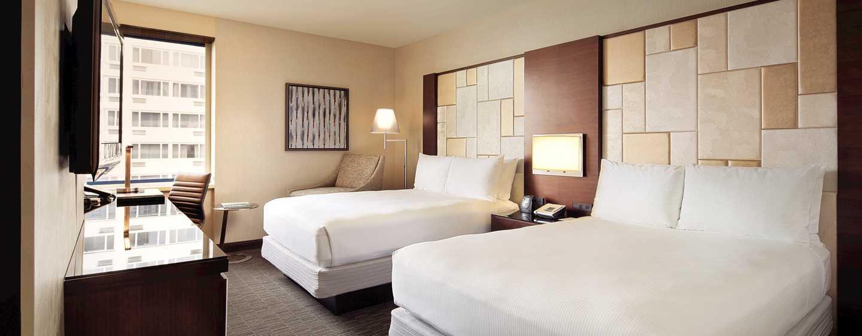 Hilton San Francisco Union Square Hotel, Kalifornien, USA– Zimmer mit zwei Doppelbetten