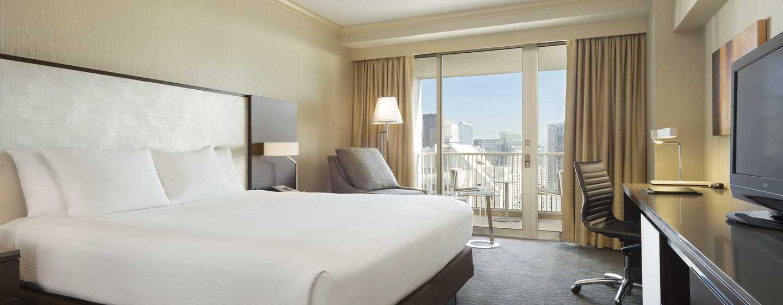 Hilton San Francisco Union Square Hotel, Kalifornien, USA– Zimmer mit Blick auf die Skyline