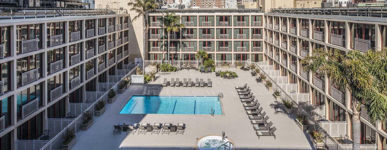 Hilton San Francisco Union Square Hotel, Kalifornien, USA– Poolblick