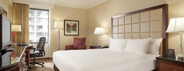 Hilton San Francisco Union Square Hotel, Kalifornien, USA– Classic Zimmer mit Queen-Size-Bett