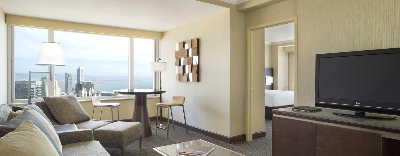 Hilton San Francisco Union Square Hotel, Kalifornien, USA– Suite mit einem Schlafzimmer