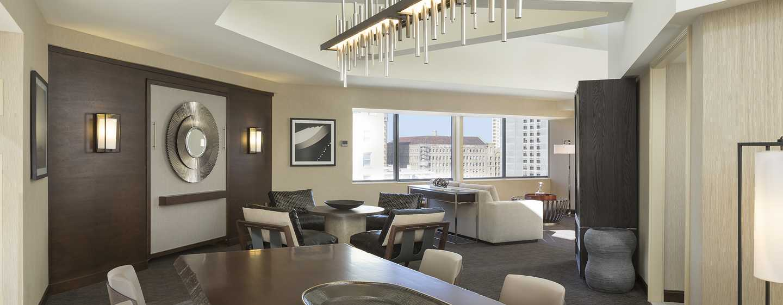 Hilton San Francisco Union Square Hotel, Kalifornien, USA– Tower Suite mit zwei Wohnzimmern