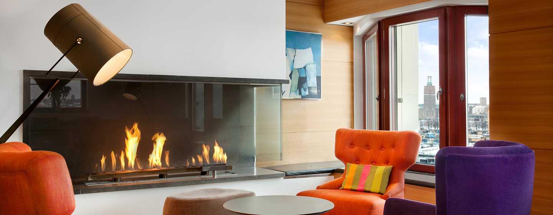 Hilton Stockholm Slussen, Schweden– Executive Lounge mit Ausblick