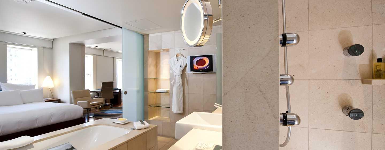 Hilton Sydney Hotel, Australien – Relaxation Zimmer mit King-Size-Bett