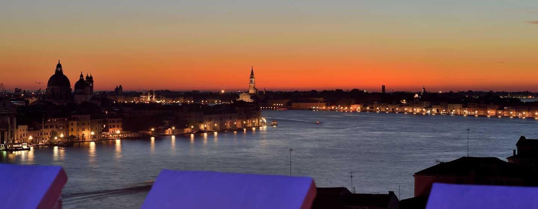 Hilton Molino Stucky Venice Hotel, Italien– Blick von der Skyline Rooftop Bar