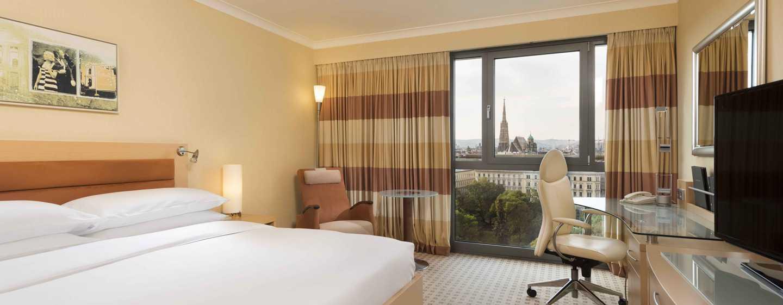 Hilton Vienna Hotel, Wien, Österreich– Zimmer mit King-Size-Bett