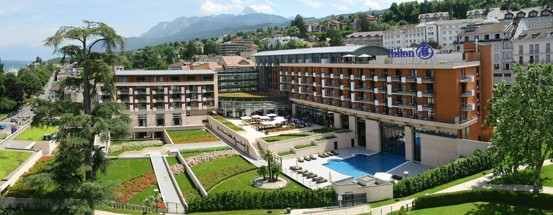 Hilton Evian-les-Bains Hotel, Frankreich– Außenbereich des Hotels