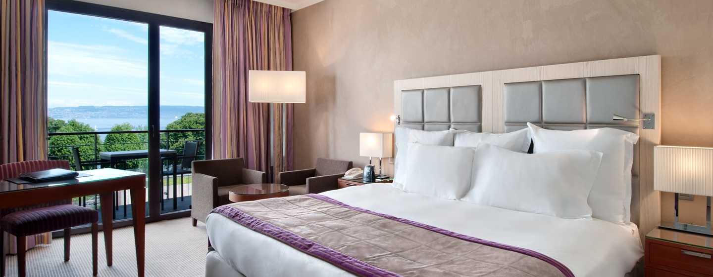 Hilton Evian-les-Bains Hotel, Frankreich– Zimmer mit Seeblick