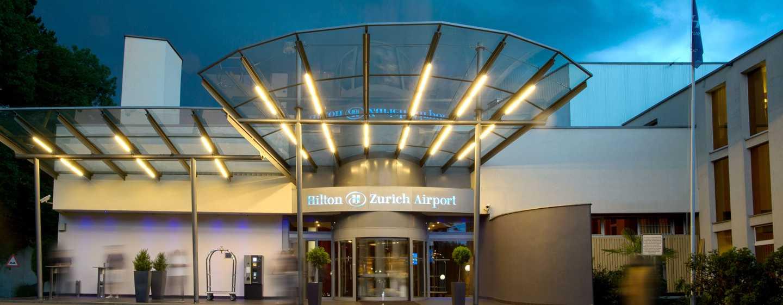Hilton Zurich Airport Hotel, Schweiz– Haupteingang