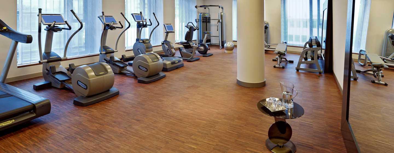 Unser schönes Fitness Center steht Ihnen für einen Workout bereit