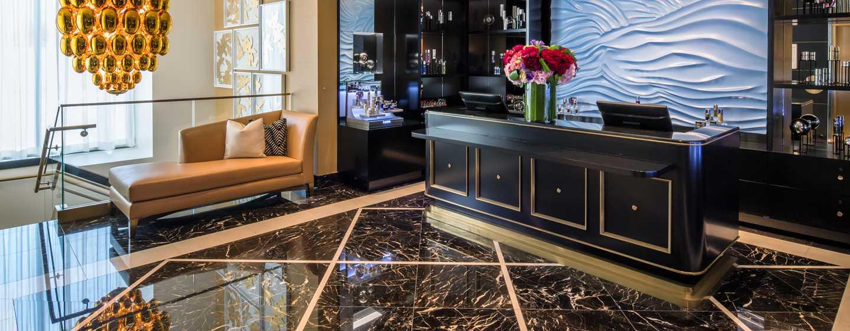 Waldorf Astoria Beverly Hills, Kalifornien, USA– Empfang des La Prairie Spa