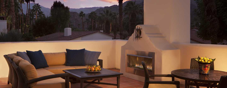 La Quinta Resort& Club, A Waldorf Astoria Resort, Kalifornien, USA– Terrasse einer Starlight Casita