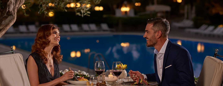 "Rome Cavalieri, Waldorf Astoria Hotels& Resorts, Italien– Restaurant ""L'Uliveto"""
