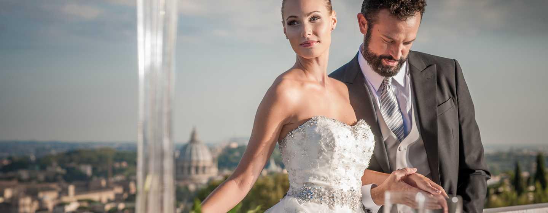 Rome Cavalieri, A Waldorf Astoria Resort, Italien– Hochzeitspaar