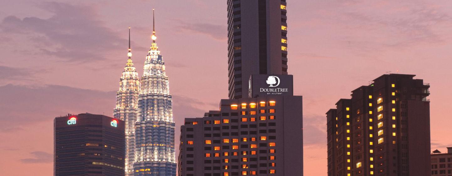 Petronas Towers und DoubleTree Kuala Lumpur