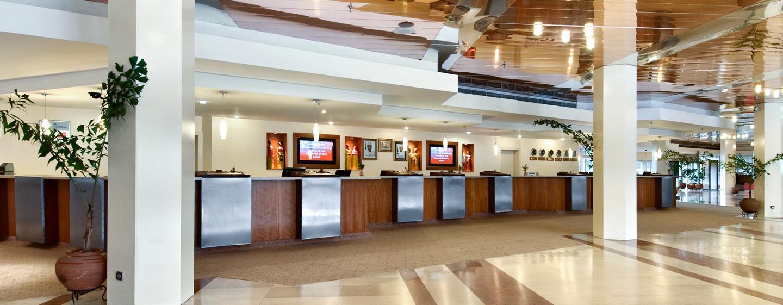 Im Eingangsbereich des Hotels werden Sie herzlich begrüßt
