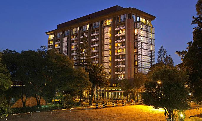 Hilton Addis Ababa, Äthiopien – Außenbereich des Hotels