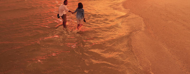 Am Abend können Sie bei einem romantischen Spaziergang den Sonnenuntergang bewundern