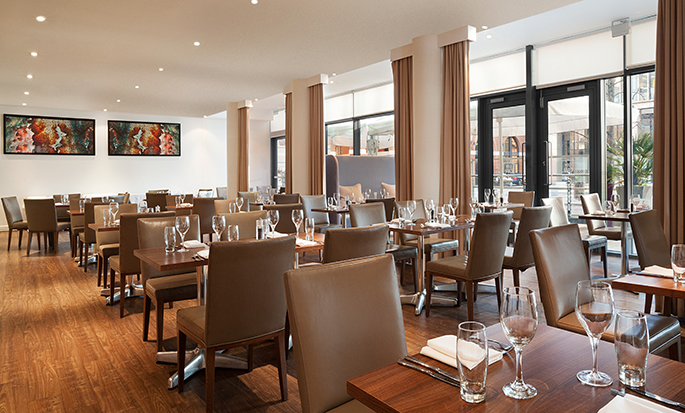 Hilton Garden Inn Birmingham Brindleyplace, UK - City Cafe Restaurant