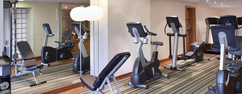 Im Fitness Center des 4-Sterne Hotels können Sie sich einem Workout hingeben