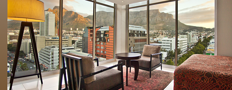 Hilton Cape Town City Centre– Blick aus einem Eckzimmer