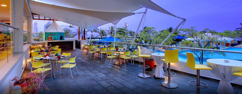 Hilton Cartagena Hotel, Kolumbien – Terrasse Piazza Al Forno