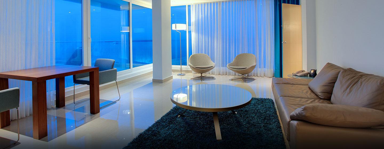 Hilton Cartagena Hotel, Kolumbien – Wohnbereich einer Suite