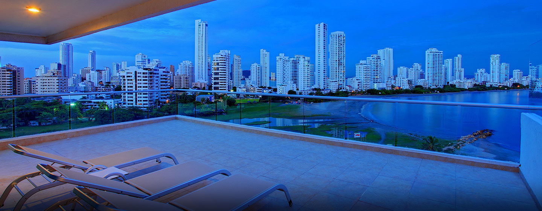 Hilton Cartagena Hotel, Kolumbien – Suiten-Balkon