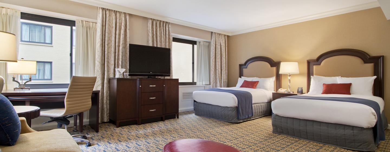 Capital Hilton - Gästezimmer – zwei Doppelbettens