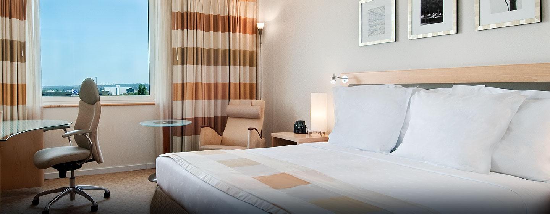 Gehobenen Komfort können Sie im Deluxe Zimmer mit King-Size-Bett genießen