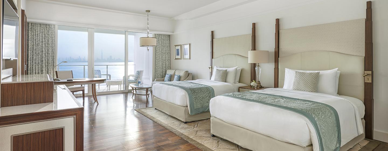 Das Deluxezimmer verfügt über zwei große Einzelbetten