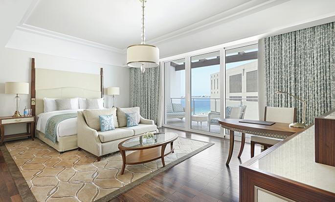 Waldorf Astoria Dubai Palm Jumeirah, VAE – Zimmer mit Kingsize-Bett