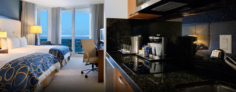 In den Zimmern des Hotels steht Ihnen eine moderne Kochnische zur Verfügung