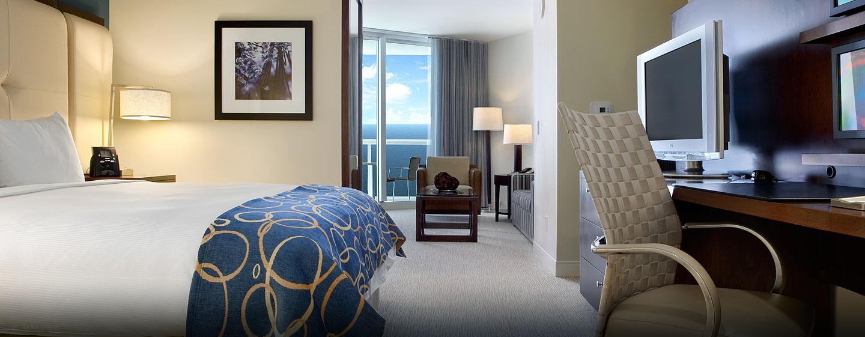 Die modern eingerichtete Suite bietet Ihnen auf Reisen viel Komfort