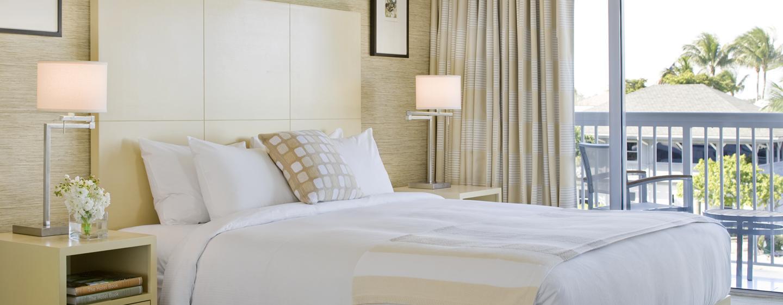 Die Zimmer im Hilton Ford Lauderdale Marina bieten Ihnen viel Schlafkomfort