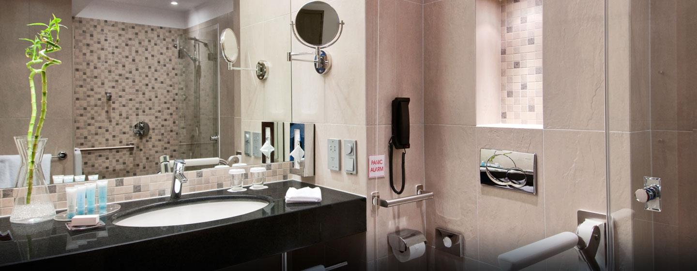 Die barrierefreien Badezimmer werden den Bedürfnissen unserer Gäste gerecht