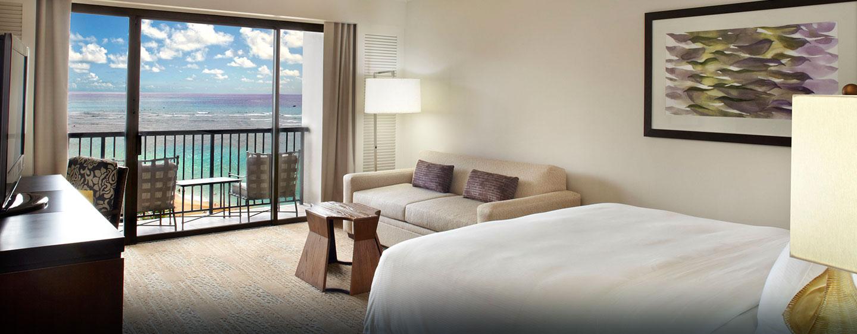 Rainbow Tower Zimmer mit Meerblick und Doppelbett