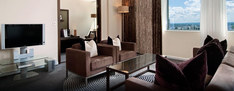 Die luxeriöse Executive Suite verfügt über ein separates Wohn-und Schlafzimmer
