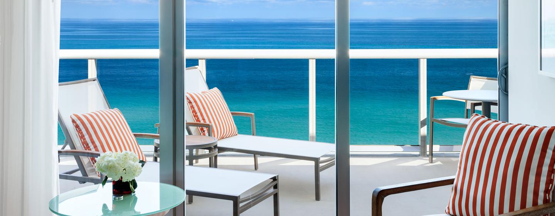 Vom Balkon mancher Zimmer haben Sie einen uneingeschränkten Blick auf den Atlantik