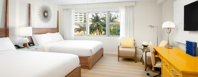 Im Hilton Cabana Miami Beach stehen Ihnen auch Zimmer mit zwei Betten zur Auswahl