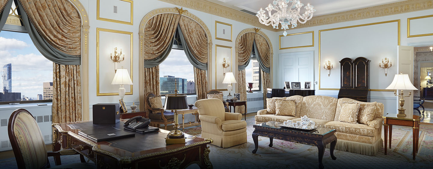 Waldorf Astoria New York - Grand Suite - Wohnbereich