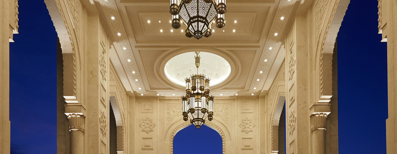 Bewundern Sie die prungvolle Architektur des Waldorf Astoria Ras AlKhaimah